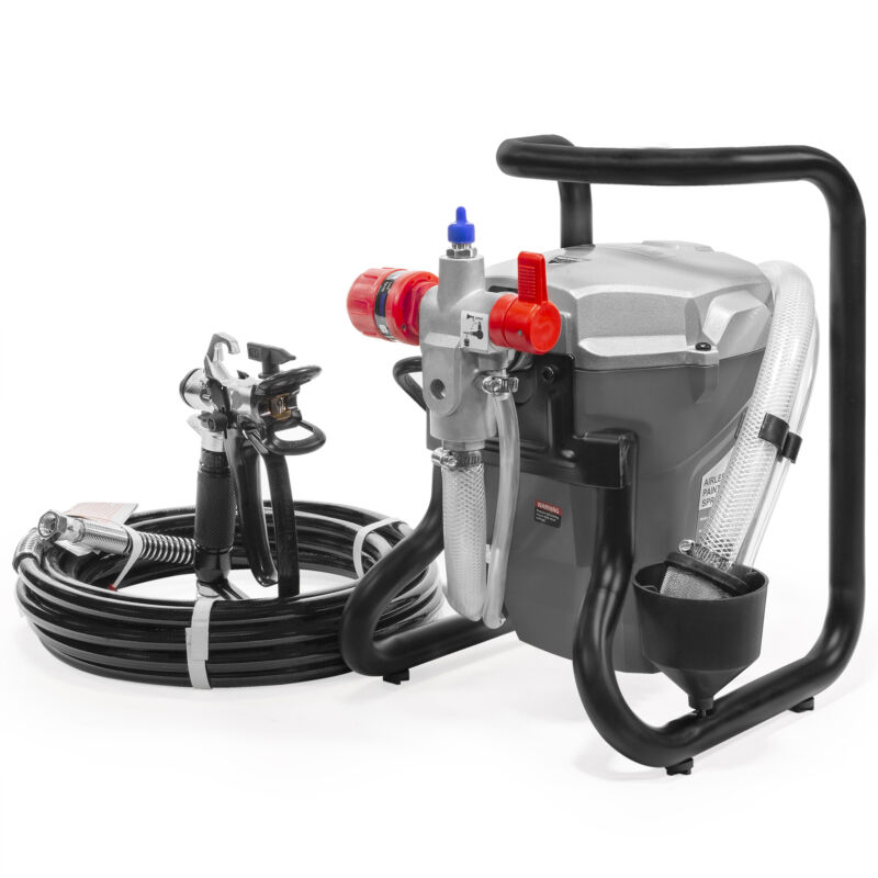 3000PSI High Pressure Airless Paint Sprayer 5/8 HP Wall Painter Spray Gun Hose
