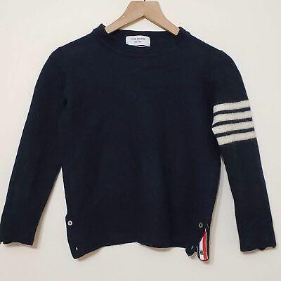 Thom Browne Iconic 4 Bar Merino Wool Crew Neck Men's Sweater, sz 3