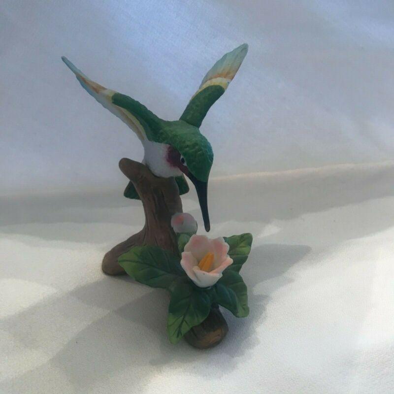 Porcelian Hummingbird Figurine