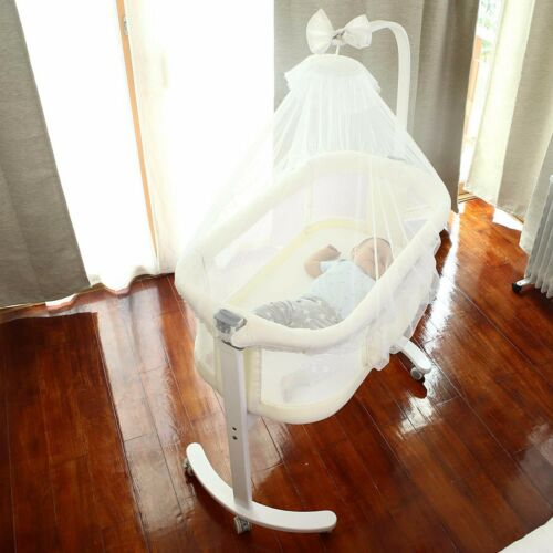 VILOBOS Baby Bassinet Bedside Sleeper Infant Nursery Newborn Crib Rocker Cradle