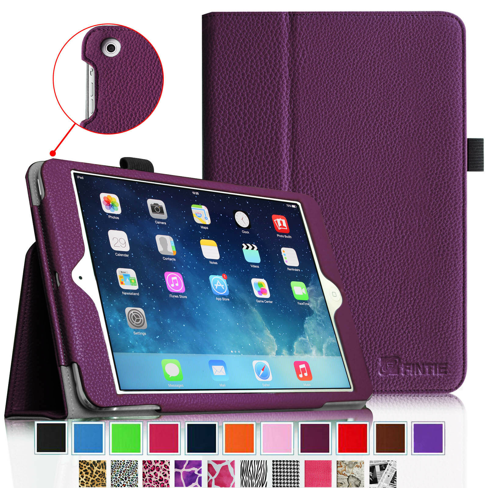 Ipad Mini Case - for iPad mini 3 2 1 4 Slim Fit Folio Leather Case Stand Cover Auto Sleep/Wake