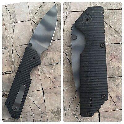 Strider Folding Pocket Knife by Mick Strider MSC - AR Folding Knife Black G10