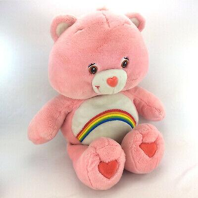 "Pink Care Bears Plush Cheer Bear Stuffed Animal Rainbow Large Jumbo 27"" Doll for sale  Shipping to Canada"