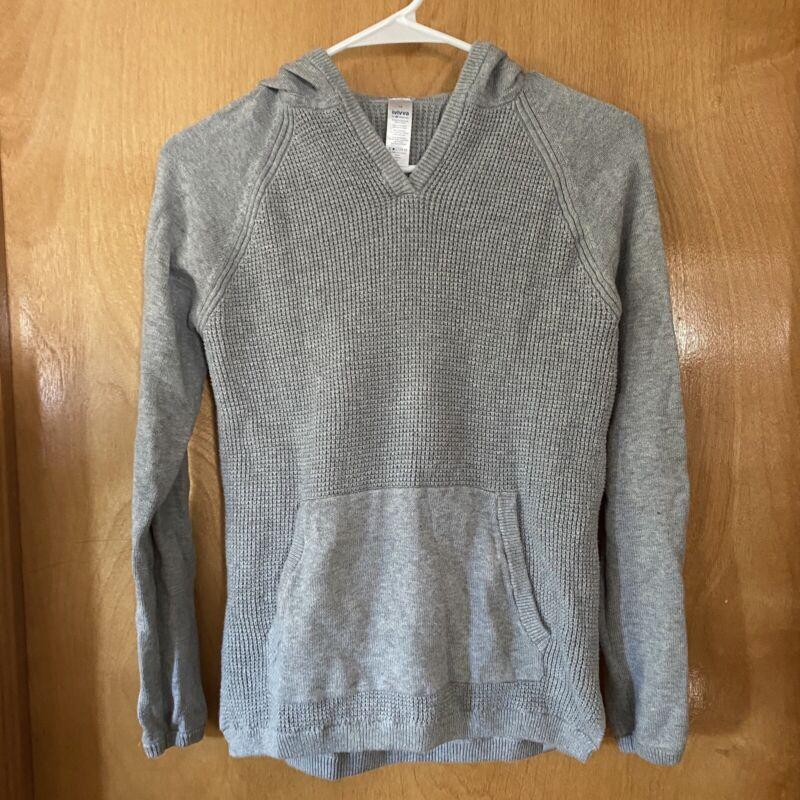 Ivivva By Lululemon Girls Grey Hooded Sweater Size 14