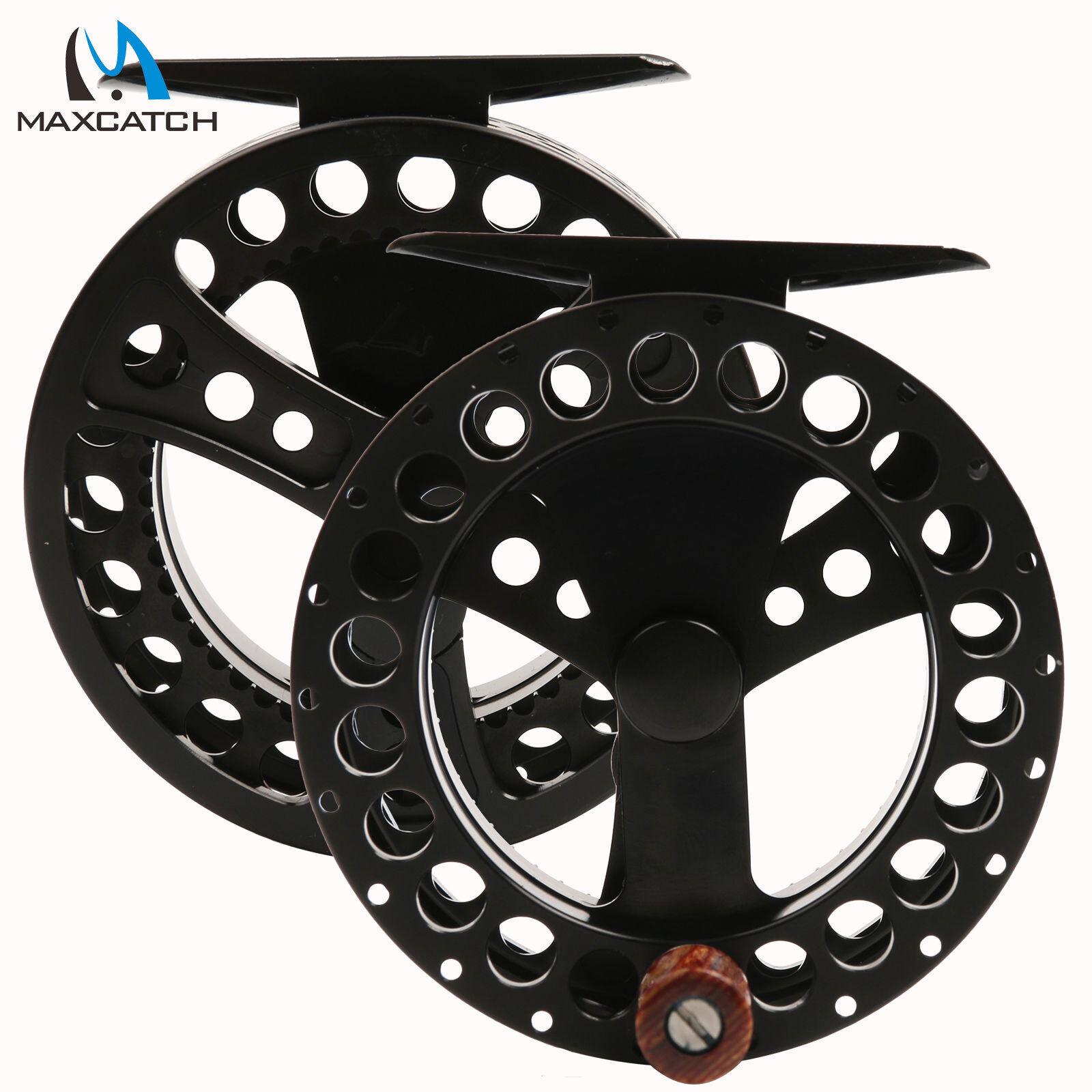 2//3WT Fly Reel CNC Machined Aluminium Black Fly Fishing Reel