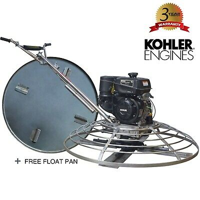 46 Concrete Power Trowel Finishing Kohler 9.5 Hp Engine Float Pan Blades Cement