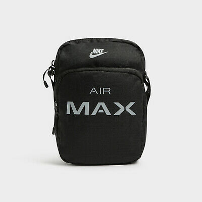 Nike Air Max Small Items Bag Black Grey Pouch Crossbody Flight Travel BA5776 013