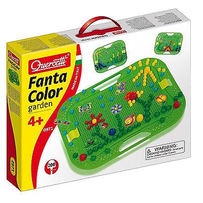 Fanta Color Garden Kinder Steckspiel Basteln Quercetti Mosaik Kreativ Set BOX