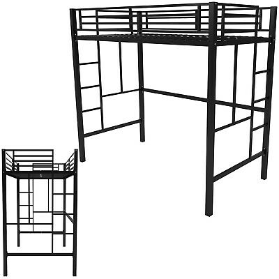 - TWIN LOFT METAL Bunk Bed Boys Girls Bedroom Furniture Teens Kids Dorm Ladders