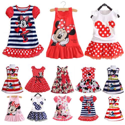 Baby Mädchen Kleid Minnie Mouse Partykleid Prinzessin Mini Kleider ...