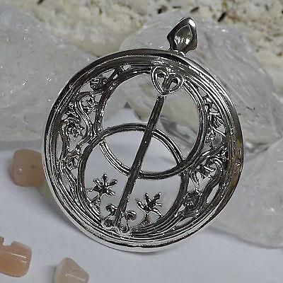 Chalice Well 925Silber Anhänger Avalon Kelten Mittelalter Heilquelle Magie Wicca