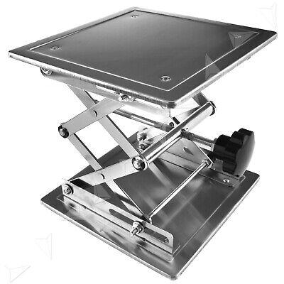 200 X 200mm Scientific Lab Jack Aluminum Lab Lifting Platform Stand