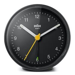 Braun BN-BC12B Black Round Quartz Classic Alarm Clock
