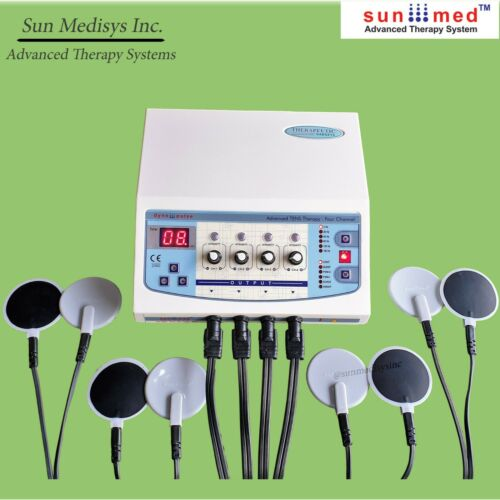 Home and Clinic Use Electrotherapy 04 Channel TENS EMS Machine pain relief