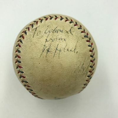 Muddy Ruel Single Signed American League Baseball Walter Johnson Catcher PSA