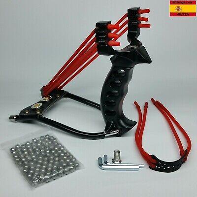 Tirachinas slingshot deportivo de acero, profesional, caza, pesca, competición