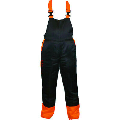 Chainsaw Bib Brace Trousers Dungarees Forestry Safety Protective Large 34/38
