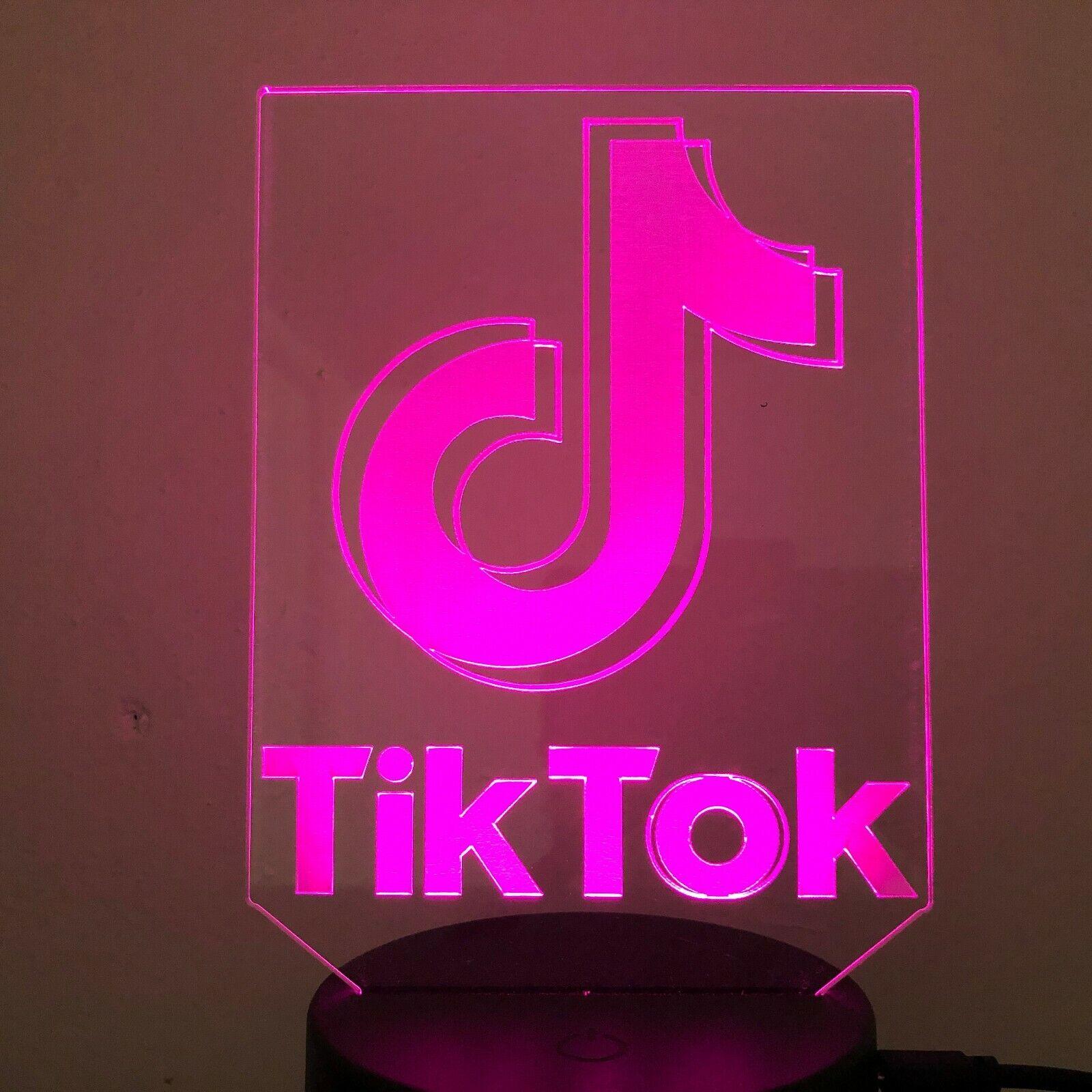 GITF 7 Colour TIK TOK LOGO DANCING APP 3D Acrylic LED ...