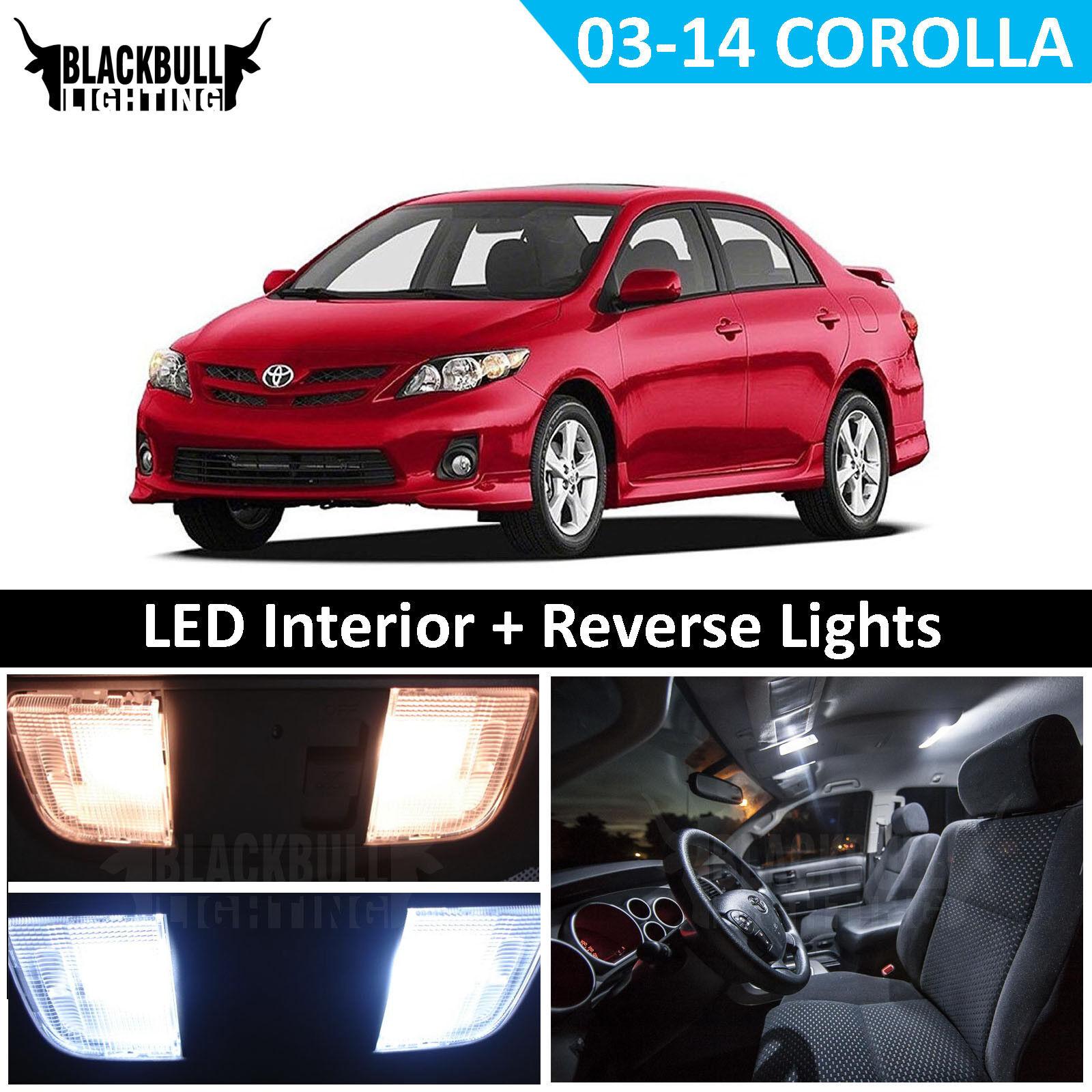 Reverse Light Package Kit for 2003-2014 Toyota Corolla White LED Interior