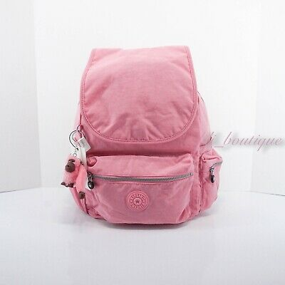 NWT New Kipling BP4387 Ezra Travel Bag Backpack Polyamide Nylon Cool Pink $119