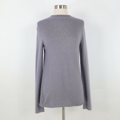 THE ROW Cashmere Sweater Pullover S Small Gray Mock Neck Pleat Back Fine Knit