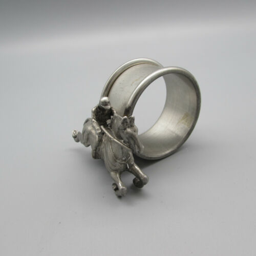 Pewter Horse & Jockey Figural Napkin Ring