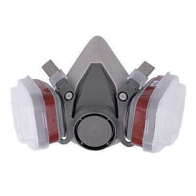 DE Atemschutz Halbmaske Gasmaske 6200 Staubmaske Lackiermaske Mit Wechselfiltern