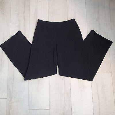 Giorgio Armani Borgo 21 Womens Pants sz 44 Trousers wool  Black u7