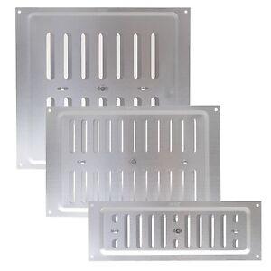 Hit miss silver aluminium adjustable air map vent wall ventilation grille cover ebay - Grille ventilation aluminium ...