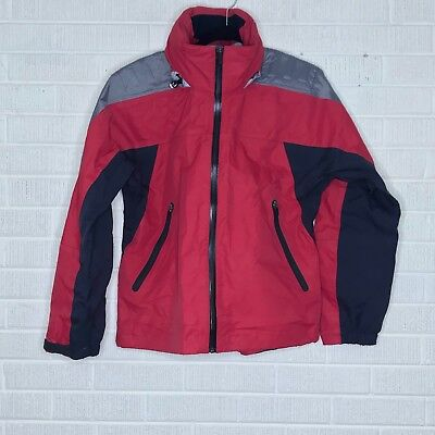 bf133b068 Nevica Mens Size 8 Ski Jacket Lightweight Shell Red Black Gray Colorblock