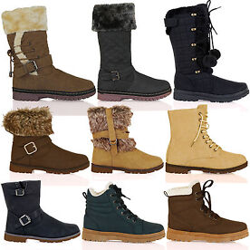 Womens Winter Ankle Boots Size 3-10
