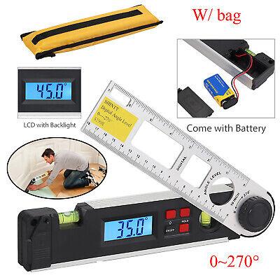 Lcd Digital Level Protractor Inclinometer Spirit Level Angle Gauge Finder 0270