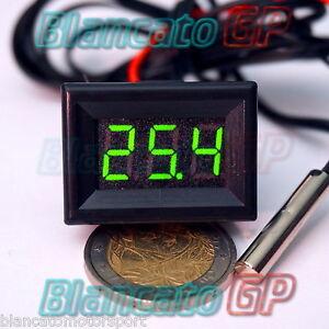 MINI-TERMOMETRO-DIGITALE-da-PANNELLO-LED-VERDE-GIALLO-30-70-NTC-DC-auto-moto