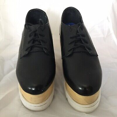 jeffrey campbell Havana Size 4 Black Patent Leather Shoes Used