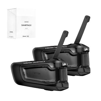 Cardo Scala Rider Smartpack Doble Moto Bluetooth Intercomunicador para Casco