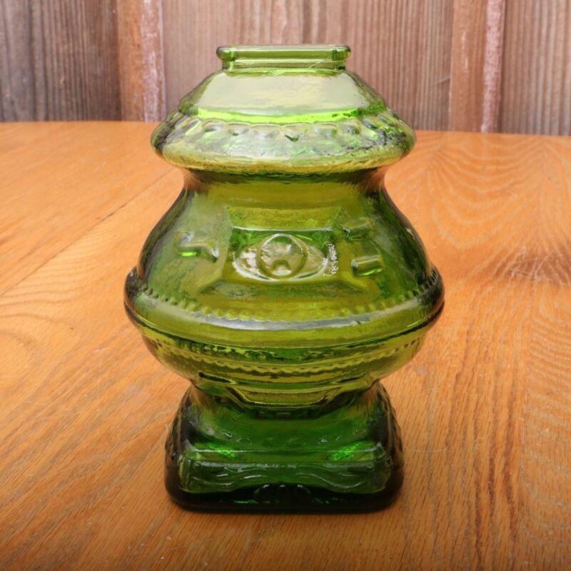Vintage Wheaton Green Glass Still Coin Bank