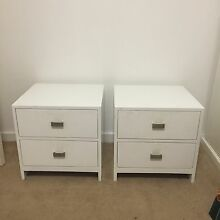 Set of 2 white bedside tables - Modern Trigg Stirling Area Preview