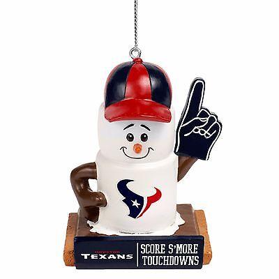 Houston Texans Smores Christmas Tree Holiday Ornament Score Smore Touchdowns