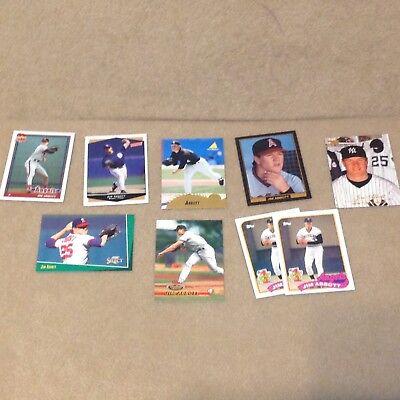 Used, Jim Abbott Trading Card Lot Baseball Pitcher Angels Yankees for sale  Riverside
