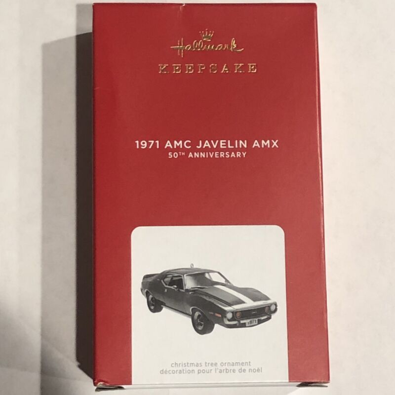 2021 Hallmark Keepsake 1971 AMC Javelin AMX 50th Anniversary LE Creased Box