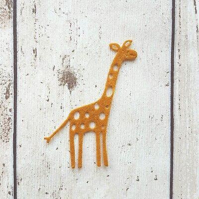 Felt Giraffe, die cut giraffes, felt die cuts, card making, diy crafts, felt