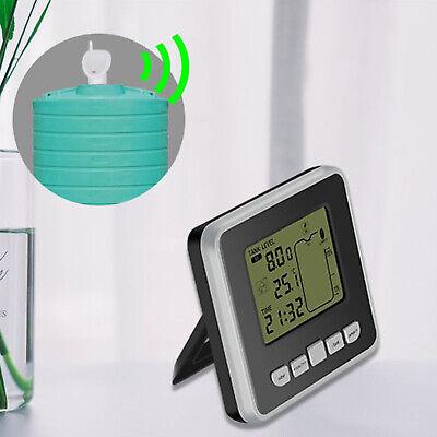 Ultrasonic Water Tank Level Meter Gauge Monitor Liquid Depth Sensor Alarm