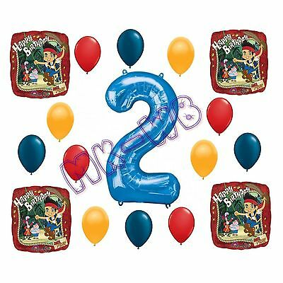 Jake & the Neverland 'Happy 2nd Birthday' Balloons Set - 17 Pieces ()
