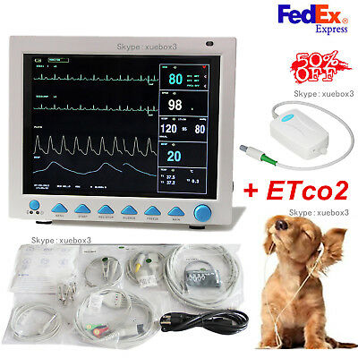 Veterinary Co2 Patient Monitor Vet Vital Signs Etco2nibp Spo2 Resp Temp Resp Pr