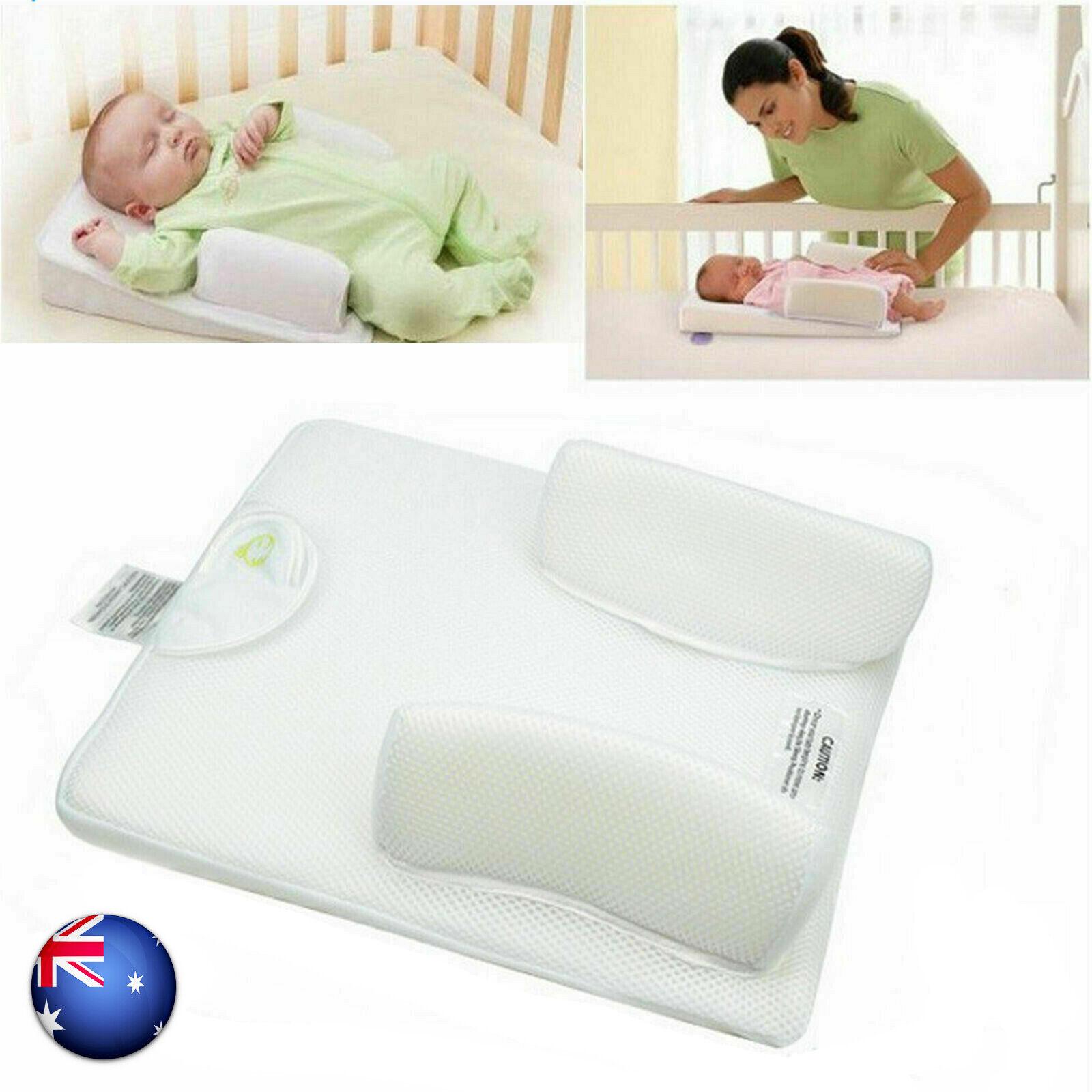 Baby Infant Newborn Sleep Non Roll Shape Anti-Spit Milk Pillow Cushion Nest Pod