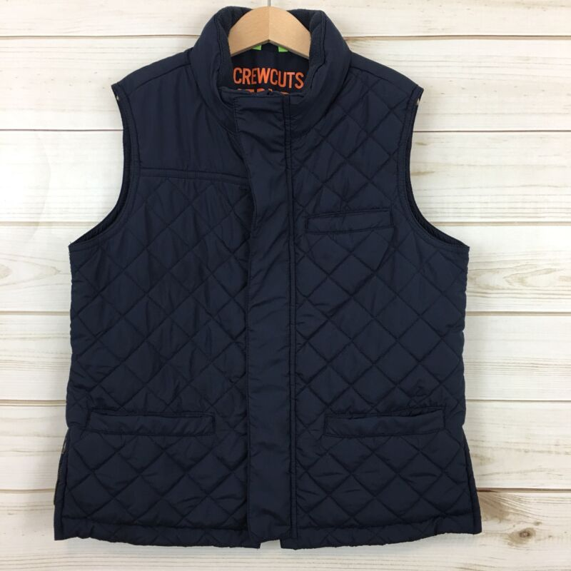 Crewcuts Everyday Boys Navy Blue Insulated Lightweight Quilted Vest. Size 12.