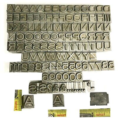 Kingsley Kwikprint Stamping Machine Type Letter Set Complete Set