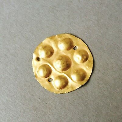 BEAUTIFUL Ancient Greek Hellenistic Gold Plate Pendant 2