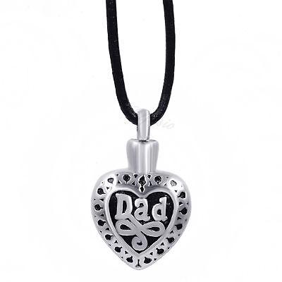 Womens Stainless Steel Pendant DAD Heart Keepsake Memorial U