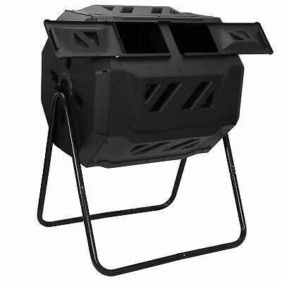 Chambers Composting Tumbler 43 Gallon Dual Outdoor Gardening Large Compost Bin